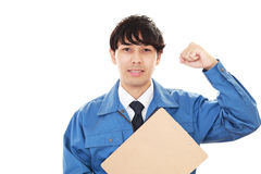 Smiling Worker Royalty Free Stock Photos