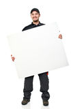 Smiling worker with board Stock Photos