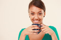 Smiling worker with coffee Royalty Free Stock Photography