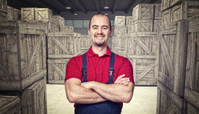 Smiling worker Royalty Free Stock Images