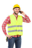 Smiling worker on the phone Royalty Free Stock Photos