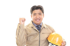 Smiling Worker Royalty Free Stock Image