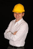 Smiling workman Stock Photos