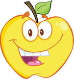 Smiling Yellow Apple Cartoon Mascot Character Royalty Free Stock Image