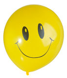 Smiling yellow balloon Royalty Free Stock Photo