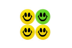 Smiling yellow balls Stock Image