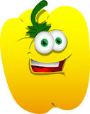 Smiling yellow bell pepper Royalty Free Stock Images