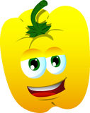 Smiling yellow bell pepper Stock Images