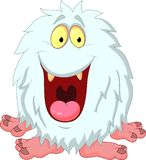 Smiling yeti cartoon Stock Images