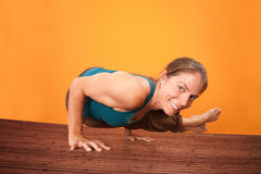 Smiling Yogasana Royalty Free Stock Images