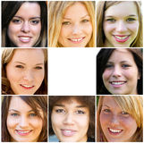 Smiling young adult woman Stock Photos