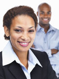 Smiling young African American business woman Stock Images
