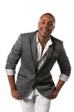 Smiling Young African American Male Model Royalty Free Stock Photo
