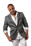 Smiling Young African American Male Model Royalty Free Stock Photos