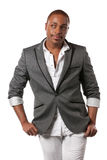 Smiling Young African American Male Model Royalty Free Stock Photography