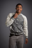 Smiling Young African American Male Model Natural Looking Stock Photos