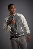 Smiling Young African American Male Model Natural Looking Stock Images