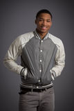 Smiling Young African American Male Model Natural Looking Royalty Free Stock Photos
