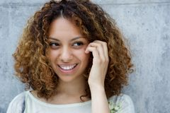 Smiling young african american woman Royalty Free Stock Photo