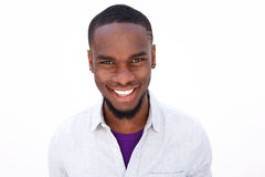 Smiling young african guy with beard Stock Images