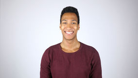 Smiling Young Afro-American Man, Positive Face Portrait. High quality Stock Photography
