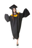 Smiling young asian graduation woman Stock Image