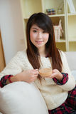 Smiling young asian woman Royalty Free Stock Image