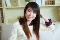 Smiling young asian woman Stock Images