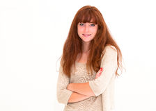 Smiling young attractive woman Royalty Free Stock Photography