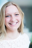 Smiling young attractive woman Royalty Free Stock Photos
