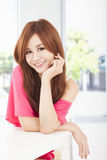 Smiling young beautiful woman Stock Images