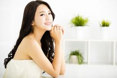 Smiling young beautiful woman Stock Photo
