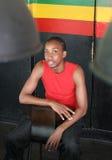Smiling young black man Stock Photos