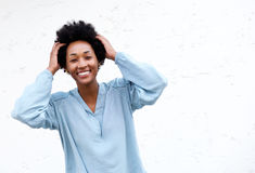 Smiling young black woman Royalty Free Stock Photography