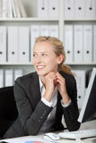 Smiling Young Blond Businesswoman Portrait royalty free stock photography