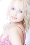 Smiling young blond woman Royalty Free Stock Photo