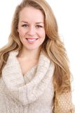 Smiling young blond woman Royalty Free Stock Photos