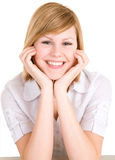 Smiling Young Blonde Royalty Free Stock Images