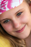 Smiling young blonde girl Stock Photography