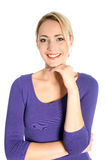 Smiling Young Blonde Woman Portrait Stock Photography