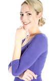 Smiling Young Blonde Woman Portrait Royalty Free Stock Image