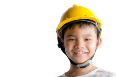 Smiling young boy engineer. Royalty Free Stock Photo