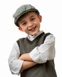 Smiling young boy with flat cap Stock Images
