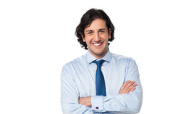 Smiling young business executive Stock Images