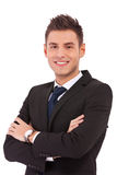 Smiling young business man Royalty Free Stock Photography
