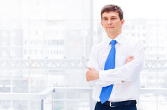 Smiling young business man Royalty Free Stock Images