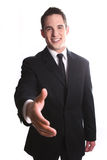 Smiling Young Business Man Stock Images