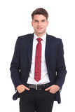 Smiling young business man looking at the camera Royalty Free Stock Photography