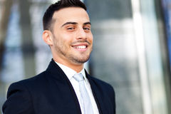 Smiling young business man portrait Royalty Free Stock Photo