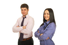 Smiling young business persons Stock Photos